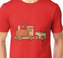 Wooden Train Unisex T-Shirt