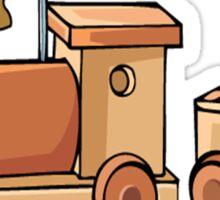 Wooden Train Sticker