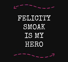 Felicity Smoak Is My Hero - Pink Arrow & White Text Version T-Shirt