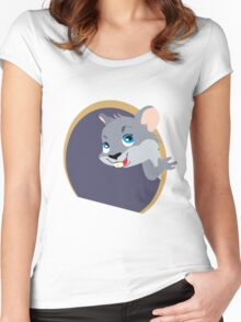 Cute Mouse Women's Fitted Scoop T-Shirt