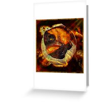 """""""The agent of orange and thine egg of new life"""" Greeting Card"""