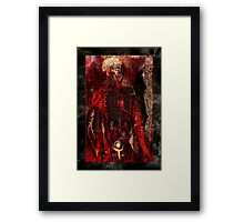 """The dark red inside of thine future human"" Framed Print"