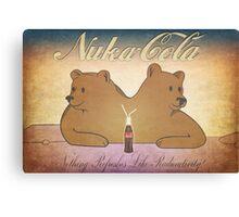 Nuka-Cola NCR Bears Canvas Print