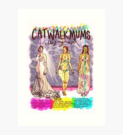 Pregnancy: Catwalk Mums Art Print