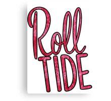 Roll Tide Tie Dye Canvas Print