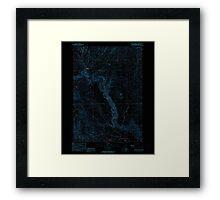 USGS Topo Map Oregon Becker Creek 278986 1990 24000 Inverted Framed Print