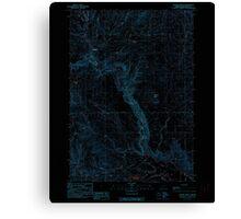 USGS Topo Map Oregon Becker Creek 278986 1990 24000 Inverted Canvas Print
