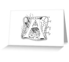 Tangle that Capital A  Greeting Card