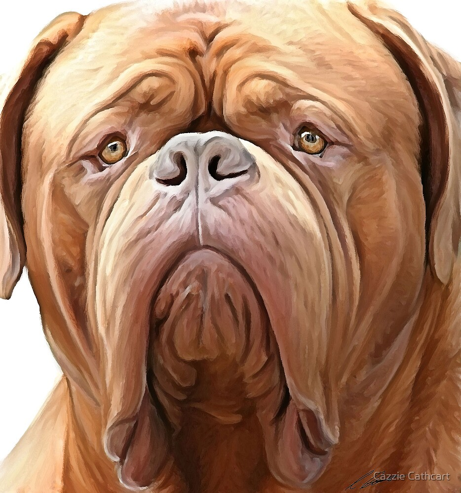 dogue de bordeaux ( french Mastiff) by Cazzie Cathcart