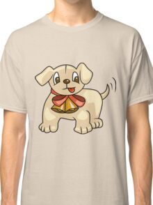 Cute Puppy with Ribbon Classic T-Shirt
