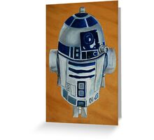 Gordy's R2D2 that he insists should have a red light but i keep telling him 'it's a toy with no batteries'. Greeting Card