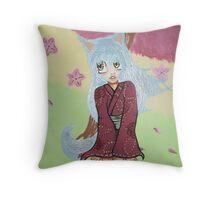 Little Hanako Throw Pillow