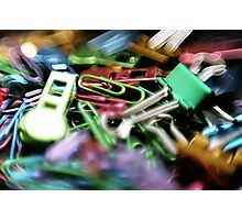 Clipped - Office Supplies  Photographic Print