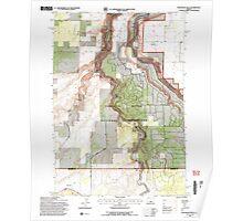 USGS Topo Map Oregon Steelhead Falls 281643 1992 24000 Poster