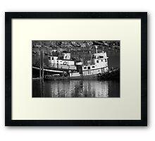 Tug Boats in Nanaimo Harbor, BC, Canada Framed Print