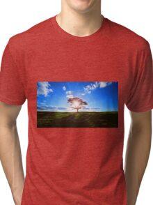 Lone Tree in Tea Tri-blend T-Shirt