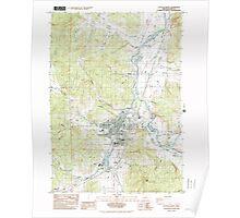 USGS Topo Map Oregon Cottage Grove 279448 1984 24000 Poster