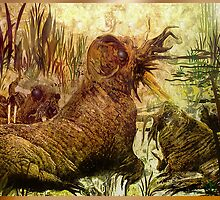 """Mammoths in swamp swaying "" by Peta Duggan"