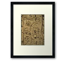 The History Of The Cat Framed Print