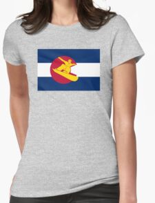 Colorado snowboarder flag Womens Fitted T-Shirt