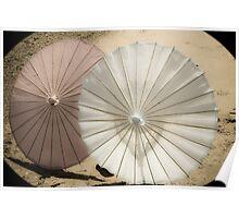 Vintage Paper Parasols Poster