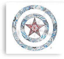 Stars and Stripes Shield Canvas Print