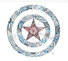 Stars and Stripes Shield Photographic Print