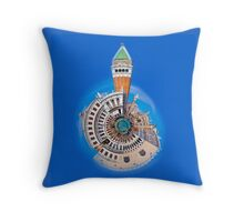 Doge's Palace & San Marco Little Planet Throw Pillow