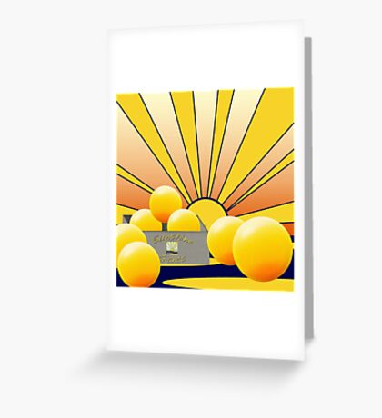 'Sunny Giants' Greeting Card