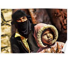 Bedouin mother and daughter, Sinai Poster