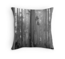 Abandoned in the Woods. Throw Pillow