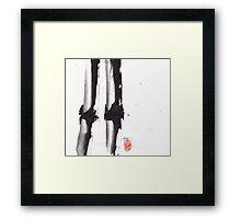 Bamboo Sumi-e Framed Print
