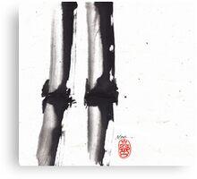 Bamboo Sumi-e Canvas Print