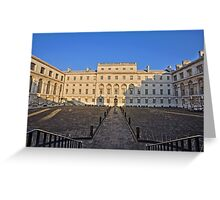 Greenwich Royal Naval Collage Courtyard Greeting Card