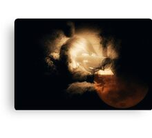 Moon Viewer Canvas Print