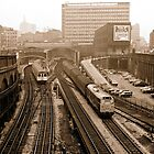 Farringdon Station 1974, London, UK. by David A. L. Davies