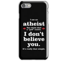 Simply Atheist iPhone Case/Skin