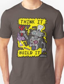 Think Build Robot T-Shirt