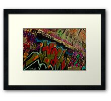 Graffiti - Wollongong Framed Print