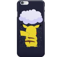 pokemon sad pikachu anime manga shirt iPhone Case/Skin
