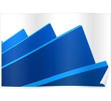 Blue fan Poster