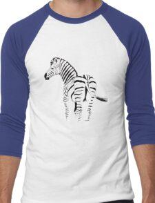 THE ZEBRA TEE - In black and white Men's Baseball ¾ T-Shirt