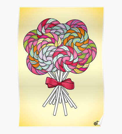 Terribly Tempting - Lollipops Poster