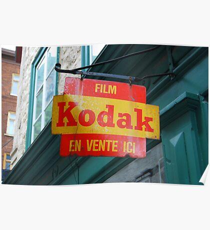 Old Kodak Sign Poster
