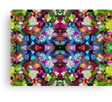 Colorful Floral Collage Pattern Canvas Print