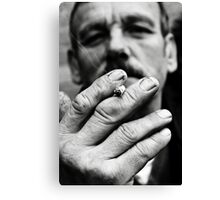 Forcing smoke down my lungs is pulmonary rape Canvas Print