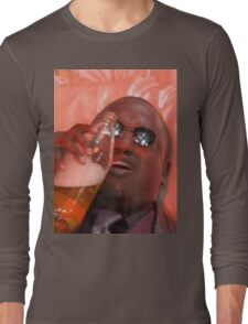 MORPHEUSDRINKINAFORTYINADEATHBASKET Long Sleeve T-Shirt