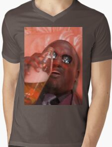 MORPHEUSDRINKINAFORTYINADEATHBASKET Mens V-Neck T-Shirt