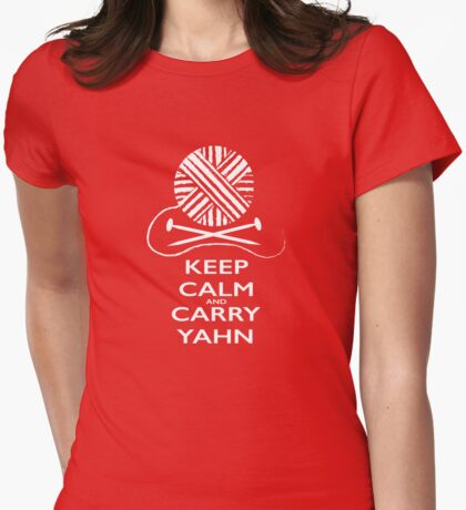 Keep Calm (dark background) Womens Fitted T-Shirt
