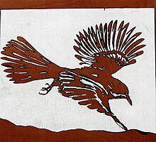 Bird in Flight by carolyndoe